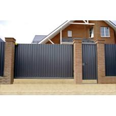 Уличные сдвижные ворота на проем 3700х1900мм из профнастила