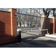 Уличные сдвижные ворота решетчатые