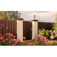 Штакетный забор из металла