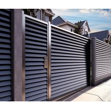Металлический забор жалюзи